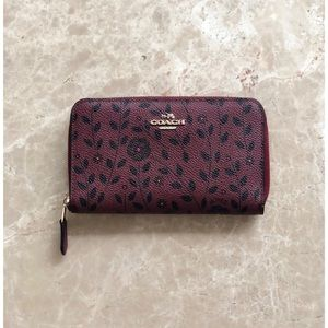 Coach Willow Floral Print Zip Wallet
